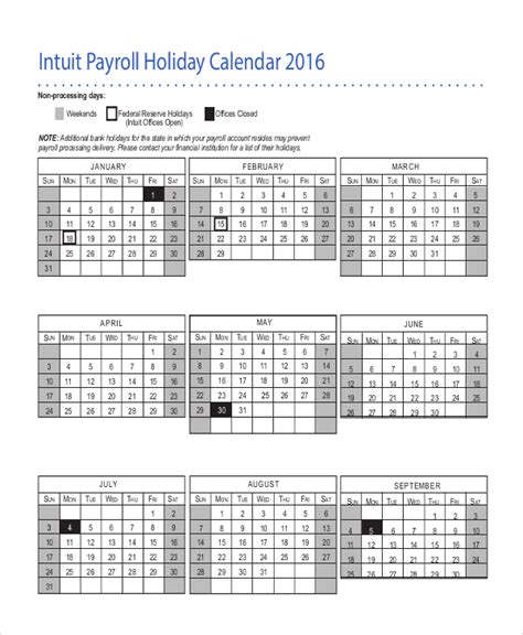 payroll calendar template   excel  document downloads  premium templates