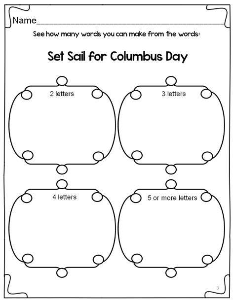 st s day activities columbus ohio classroom freebies set sail for columbus day literacy packet
