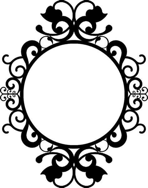 The Oval by Round Vintage Silhouette Cameo Frame Clipart Simple Clip