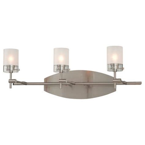 George Kovacs Lighting Fixtures George Kovacs Brushed Nickel Three Light Bath Fixture On Sale