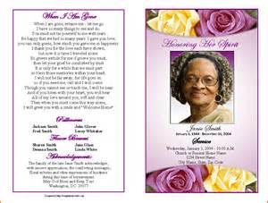 Free printable funeral program template funeral program template