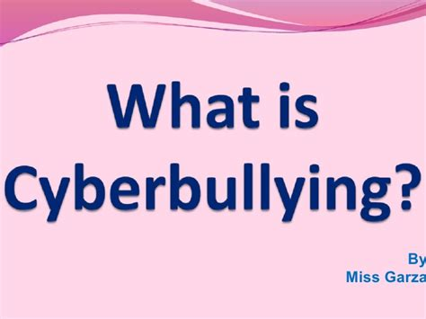 what is what is cyberbullying presentation