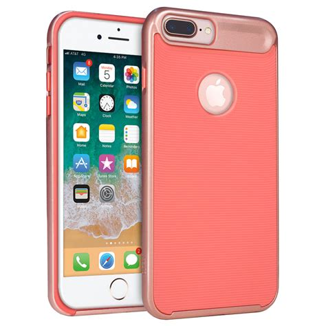 orzly airframe bumper iphone 8 plus 7 plus pink