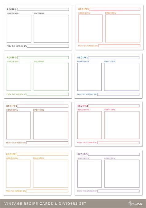 printable index cards template index card template cyberuse