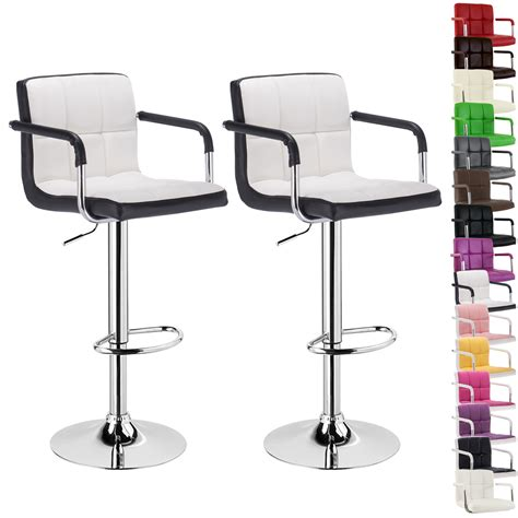 Leather Bar Stools Set Of 2 by Faux Leather Bar Stools Set Of 2 Kitchen Breakfast Bar
