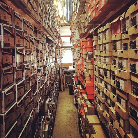 the stock room from new balance to nike in the flight club los angeles stock room inside flight club