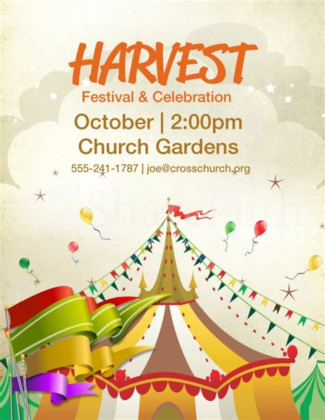 Festival Template Harvest Festival Harvest Carnival Template Flyer Templates