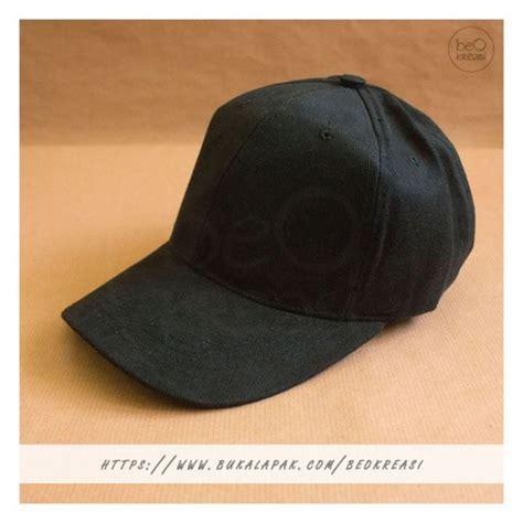 jual topi baseball cap hitam dewasa polos pria wanita