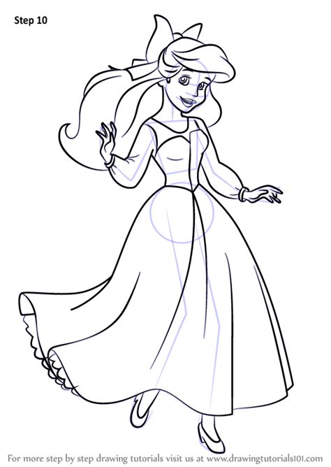 human ariel coloring pages learn how to draw ariel as human from the little mermaid