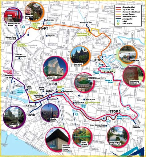 capital bike map melbourne a network of cycling trails untapped cities