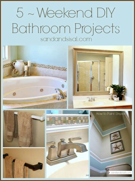 diy projects for bathrooms 5 weekend projects for the bathroom sand and sisal