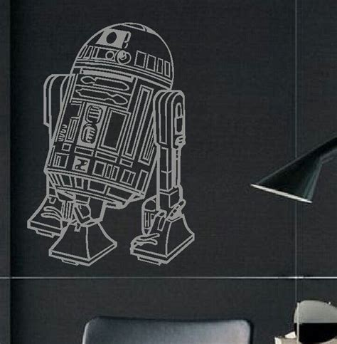transfer stickers for walls large wars r2d2 childrens bedroom wall mural sticker transfer decal bespoke graphics