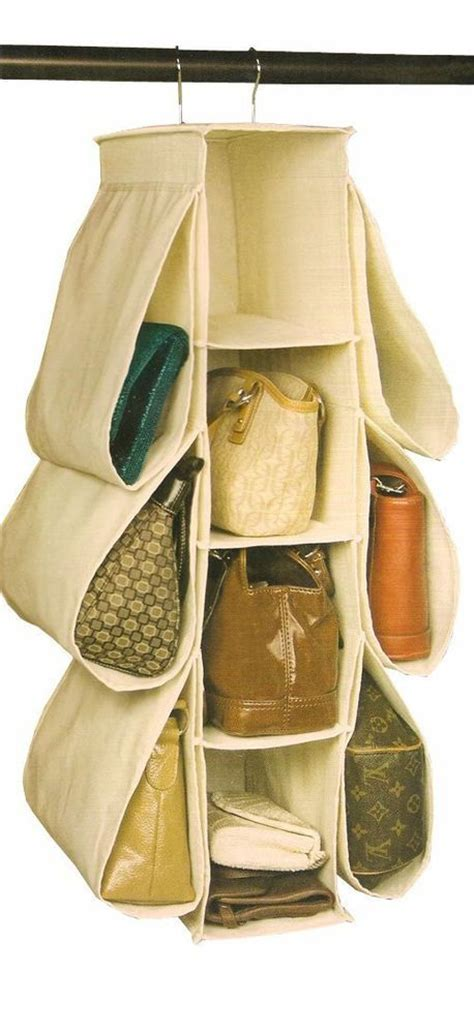 hanging purse organizer closet storage handbag shoe rack