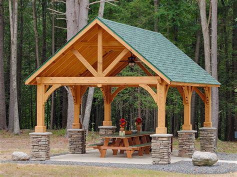 Garage Cing Car En Kit by Wooden Pavilions Wooden Gable Pavilions Pavilion Kits