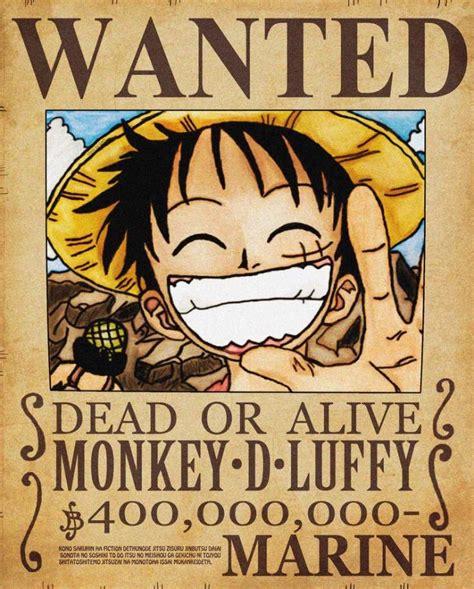 membuat poster buronan one piece monkey d luffy anime amino