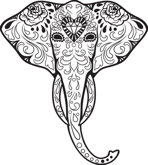 free sugar skulls coloring pages
