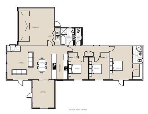 piha three bedroom house plan from project homes new zealand