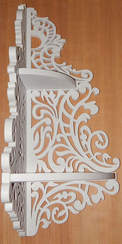 corner shelf scroll  pattern cnc plans  file