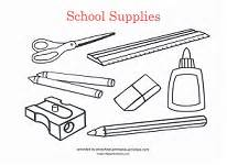 coloring supplies back to school coloring pages