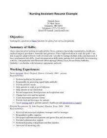 Sle Of Nursing Assistant Resume sle high school student cover letter hospice