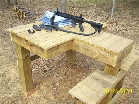 knock down shooting bench plans wood portable shooting bench plans knock down mba wood