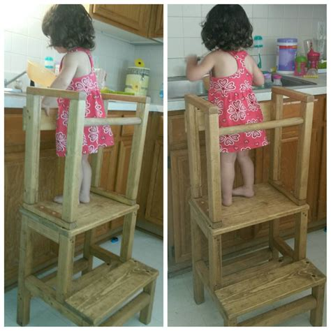 Toddler With Stool by S Helper Kitchen Helper Toddler Tower Stool