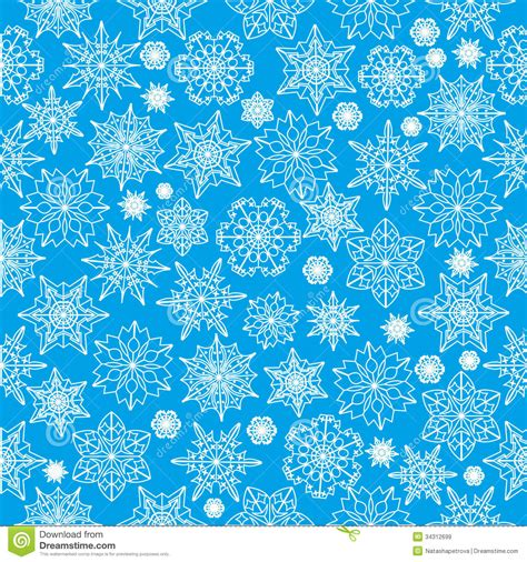 01bb23 Snowflake Patten Simple Design Blue winter background stock vector image of ornament