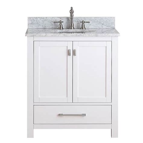 30 White Bathroom Vanity by Modero White 30 Inch Vanity Only Avanity Vanities Bathroom