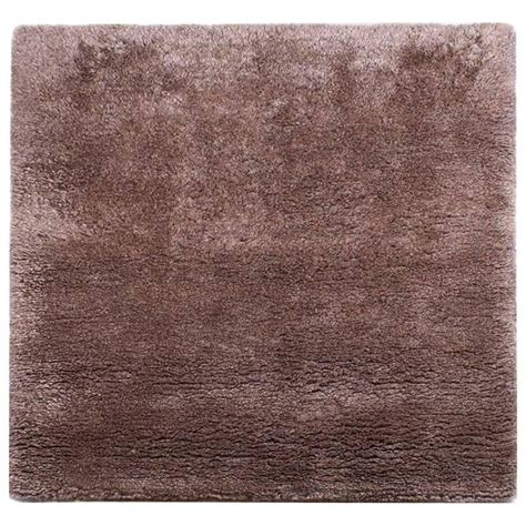 Wool Shag Area Rugs Square Silk And Wool Shag Area Rug In Coffee Bronze Color For Sale At 1stdibs
