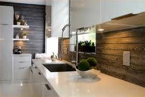 Kitchen Wallpaper Backsplash Wood Tile Backsplash Ideas
