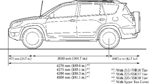 dimensions toyota rav4 car features toyota service