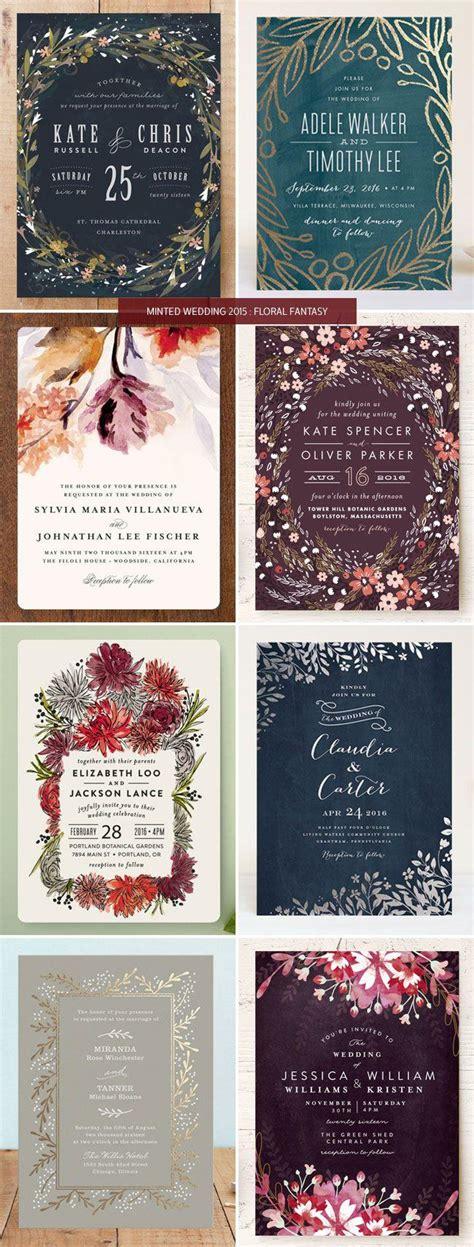 minted wedding invitations 2 minted wedding invitations 2015 floral invitation crush 2567599 weddbook