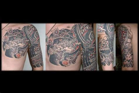 Japanese Dragon Half Sleeve Chest Plate Tattoo Chest Plate Tattoos For 2