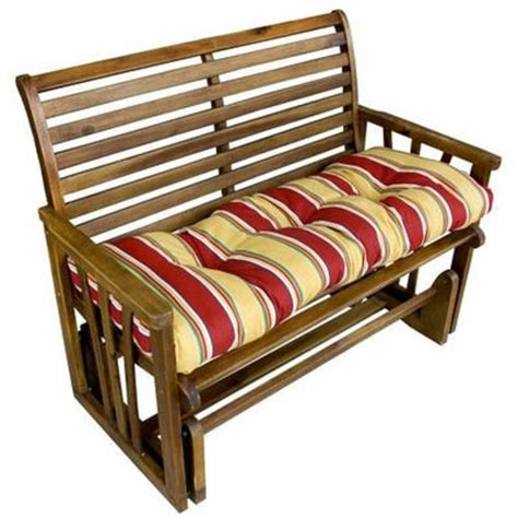 46 inch bench cushion greendale home fashions 44 inch outdoor swing bench