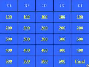 Jeopardy Printable Template by Jeopardy Template 36 Free Word Excel Ppt Pdf Format