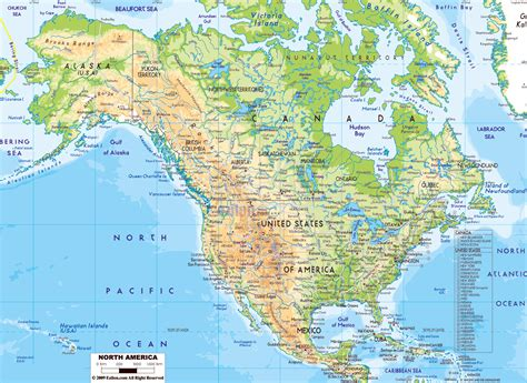 physical map of the usa maps of america and american countries