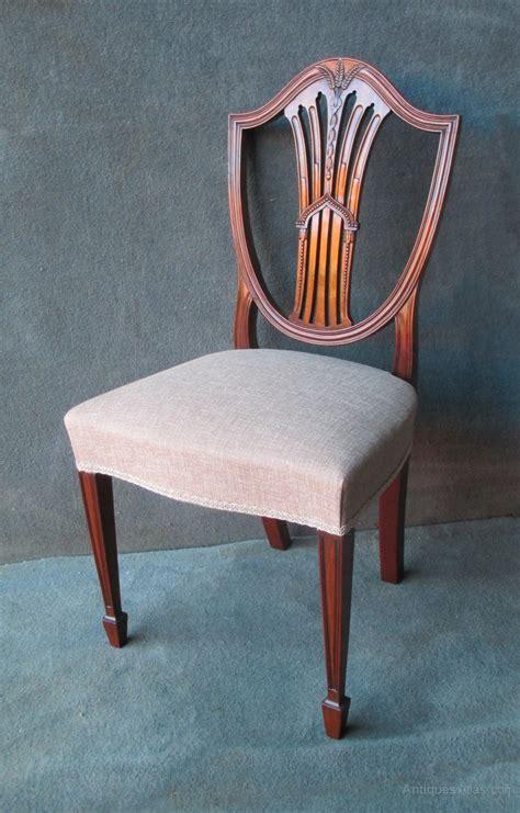 hepplewhite shield back chairs 6 2 mahogany hepplewhite style shield back chairs