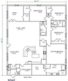 Barn Living Quarters Floor Plans ranch style pole barn home plans trend home design and decor