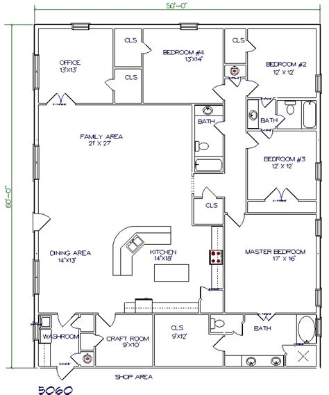Barn Living Floor Plans | barn floor plans with living quarters barn plans vip