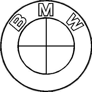Bmw Logo White by Bmw Black And White Decal Sticker 09
