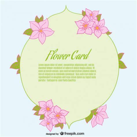 flower card template flower card template vector free