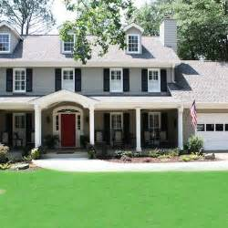 gray house colors grey exterior paint white trim navy shutters and a