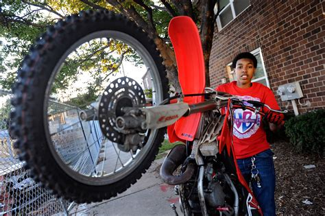 how to wheelie a motocross bike in popular but illegal baltimore dirt bike scene