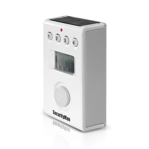 securityman solarpir indoor motion detection alarm with