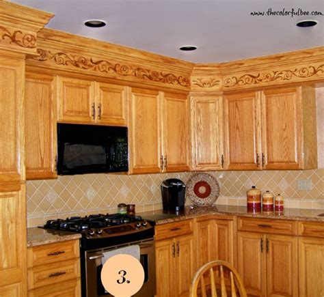 kitchen soffit ideas what to do with kitchen soffits the colorful beethe
