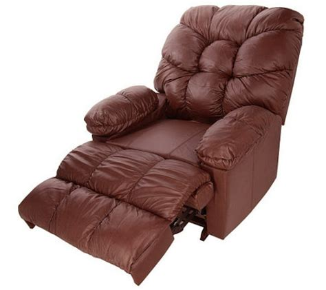 frosty fridge recliner franklin leather massage recliner w frosty cooler qvc com