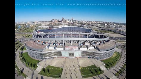 sports authority field at mile high from the air