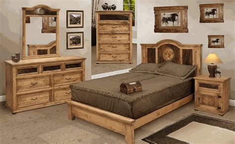 rustic bedroom furniture and pine bedroom furniture w cowhide