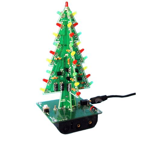 diy 3d christmas kit flashing light led circuit 3 7 colors