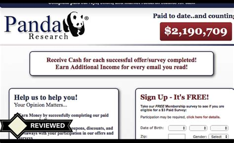 Paid Research Surveys - will you get paid with panda research surveys affiliate